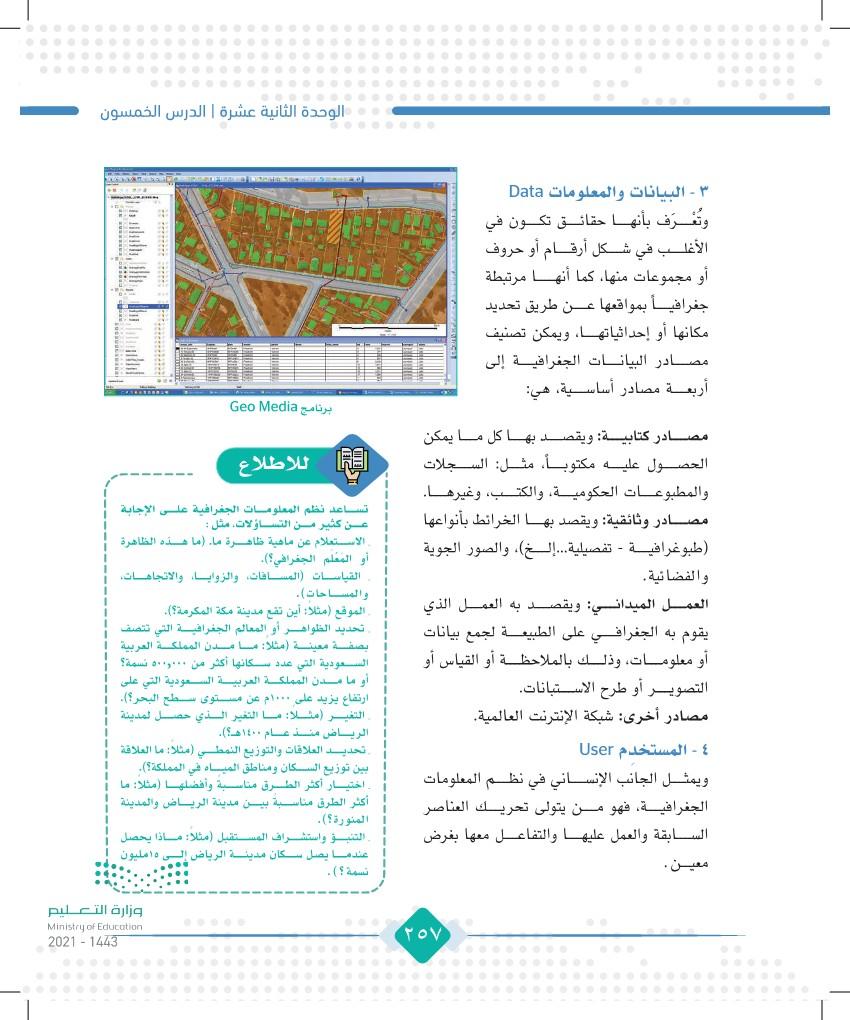 الدرس الخمسون: نظم المعلومات الجغرافية (GIS)
