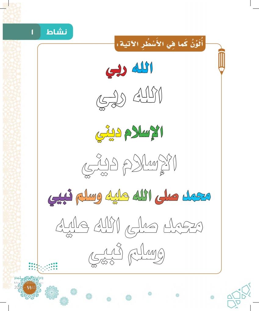 الدرس الأول: ما يجب على المسلم معرفته