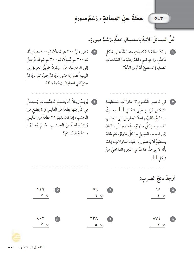 5-3خطة حل المسالة :رسم صورة