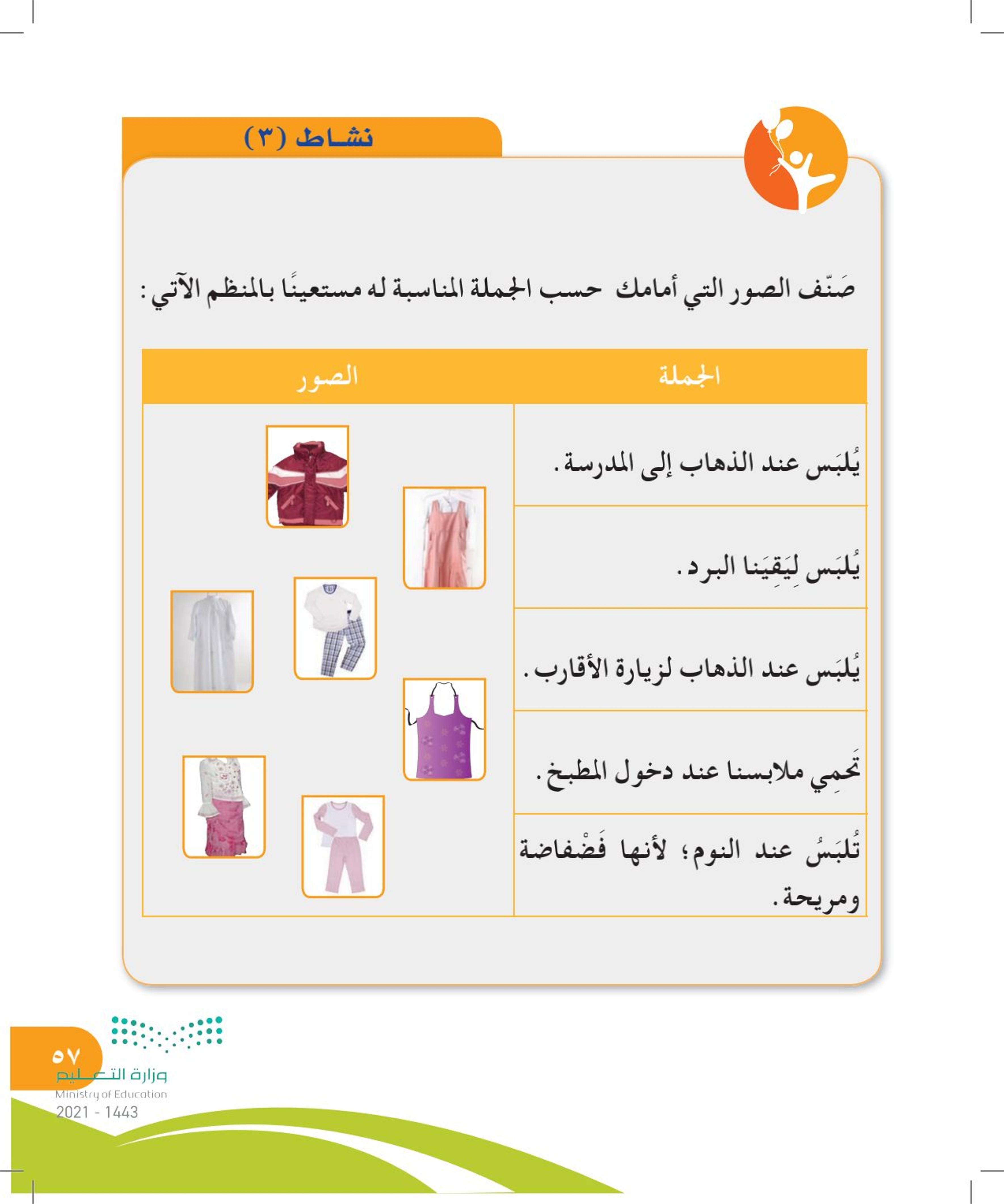 الملابس المدرسية والملابس الداخلية