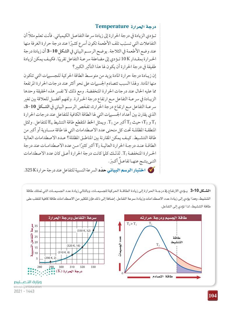 2-3 العوامل المؤثرة في سرعة التفاعل الكيميائي