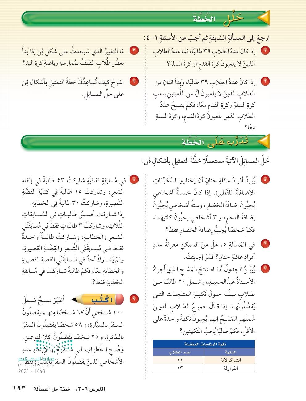 6-3 خطة حل المسائلة