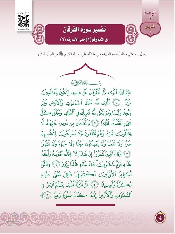 تفسير سورة الفرقان من الآية رقم (1) حتى الآية رقم (6)