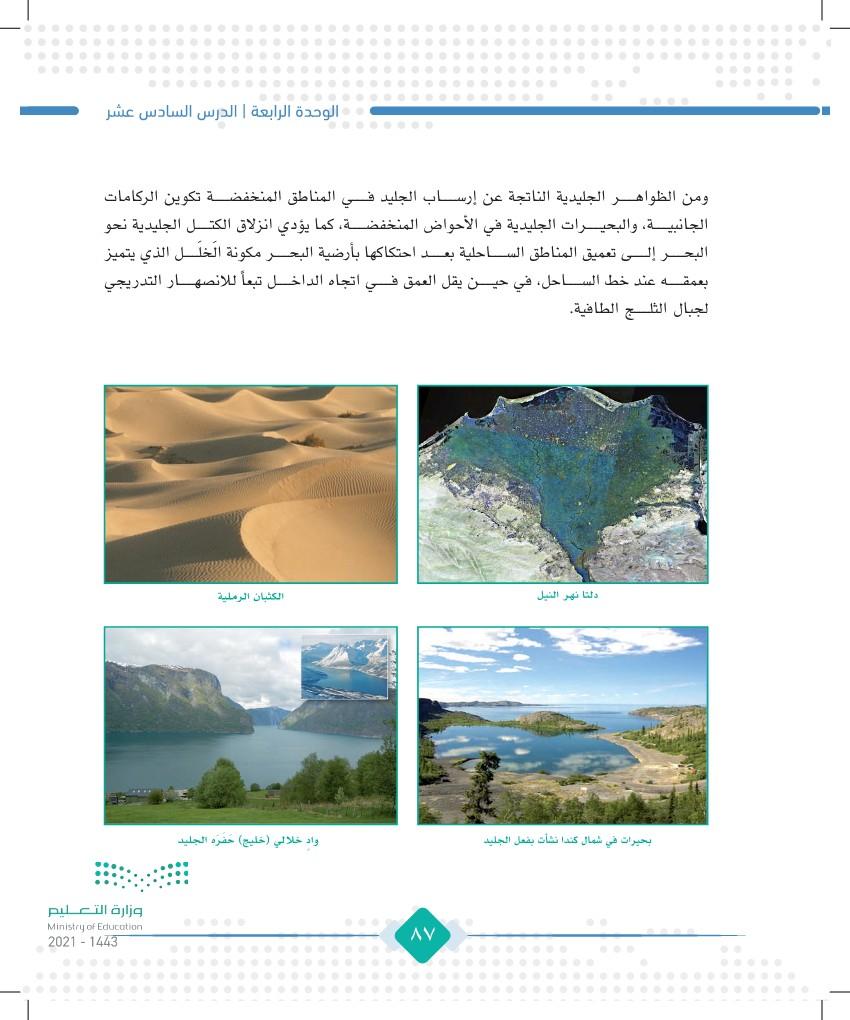 الدرس السادس عشر؛ عمليات تشكيل سطح الأرض (الخارجية)