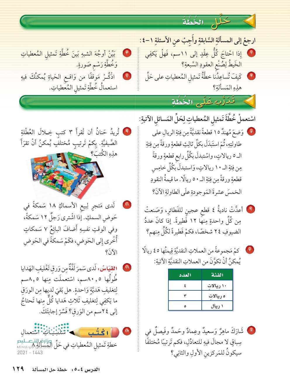 4-5 خطة حل المسألة